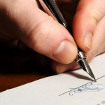 Rédaction d'une lettre manuscrite